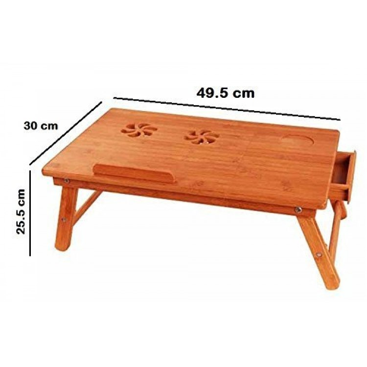 Wooden Reading Table ~ Premium wooden foldable multipurpose bed table for eating