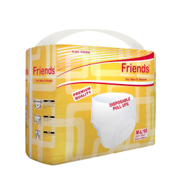 Friends Adult Pullups  Diapers  (Pack of 10)