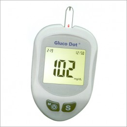 Gluco Dot Blood Glucose Monitor - With 10 Test Strips