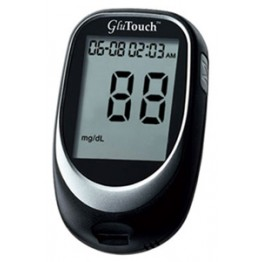 Glu Touch Sugar Check Gulcometer With 10 Test Strips