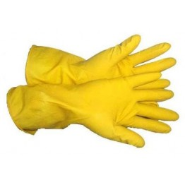 House Hold Rubber Reusable Gloves (1 Pair) - For Multipurpose use like Washing/Cleaning/Hair Dyeing etc.