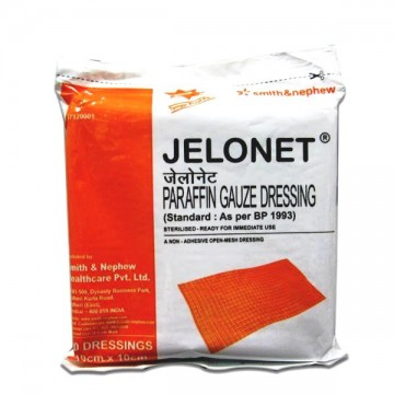 JELONET Paraffin Gauze Dressing (10cm x 10cm) - Pack of 20 Dressings