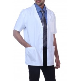 Perfect Doctor's Lab Coat (Unisex) HALF Sleeves - White