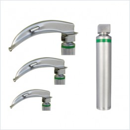 Laryngoscope Set Adult  (Set of 3) with Carry Case