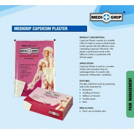 Medigrip Pain Relief Capsicum Plaster (Box of 100 Plasters)
