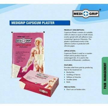 Medigrip Pain Relief Capsicum Plaster (Box of 100 Plasters)