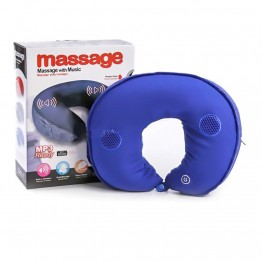 Neck Massager Cushion Pillow With Music Player  (Mp3 Ready) - Multicolor