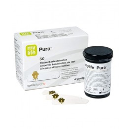 My Life Pura Blood Gulcose Test Strips 50 strips (1X50 Pack)