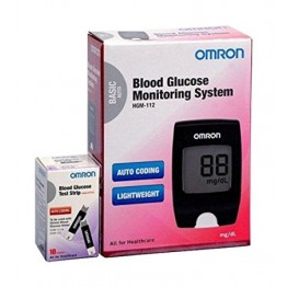 Omron Blood Glucose Monitor HGM-112 With 10 Test Strips