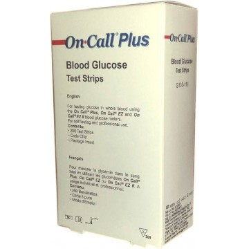 On Call Plus Test Strips - 200 Strips (4x50 Pack)