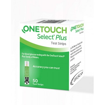 OneTouch Select Plus Simple Strips, 50 Strips