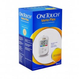 One Touch Verio Flex Gulcometer With Free 10 Test Strips (ColorSure Technology)