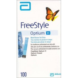 Freestyle Optium Blood Gulcose Test Strips 100 Strips (1X100 Each strip individual PACK )