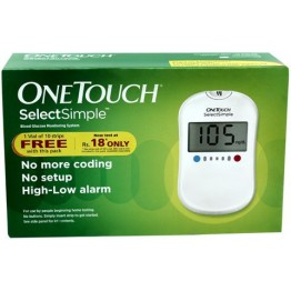 Jhonsons & Jhonsons One Touch Select Gulcometer With Free 10 Strips
