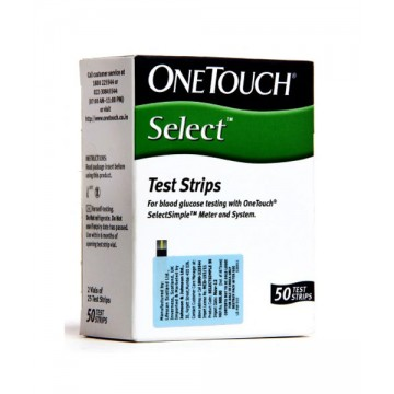 One Touch Select Gulcometer Test Strips - 50 Pcs Pack
