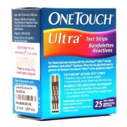 Onetouch Ultra Gulcometer Test Strips-25 Strips (1x25 PACK)