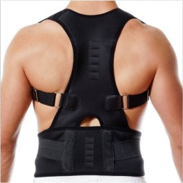 Real Posture Support Brace Belt (Black) For Men & Women