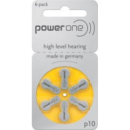 PowerOne P10 Hearing Aid Battery (6 Pcs Pack)