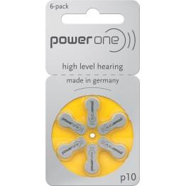PowerOne P10 Hearing Aid Battery (6 Pcs Pack)
