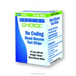 Prodigy CHOICE Blood Glucose Test Strips - 50 Strips Pack