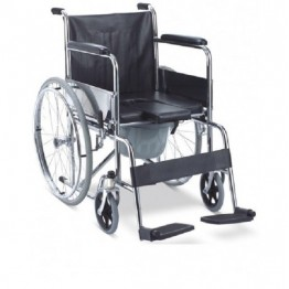 Karma Folding Commode Wheel Chair - Rainbow 7