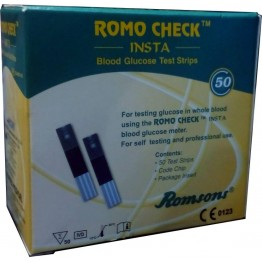 Romo Check INSTA Blood Gulcose Test Strips 50 Strips