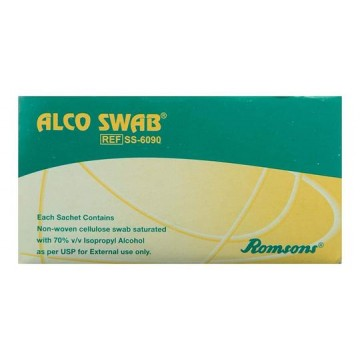 Romsons Alcohol Swabs (Alco Swab) - 100 Pcs.
