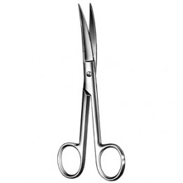 Fine Surgical Scissor Curved (Sharp Edges) S/Steel