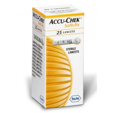 AccuChek Softclix Lancets 25 Pcs. Pack
