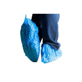 Disposable PVC Shoe Cover Blue 25 Pair (50 Pcs)