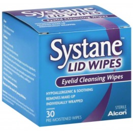 Systane Eye Lid Cleansing Wipes  30 Wipes Box