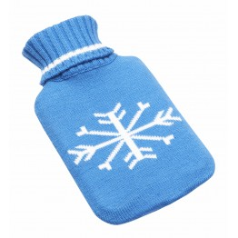 Hot Water Bottle Bag With Colorful Premium Towel Knit Cover  - (Non-Electrical)