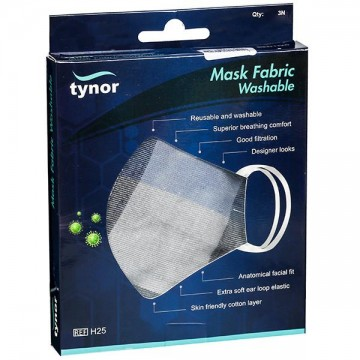 Tynor Mask Fabric Washable (Pack of 3 Pieces) - Checks