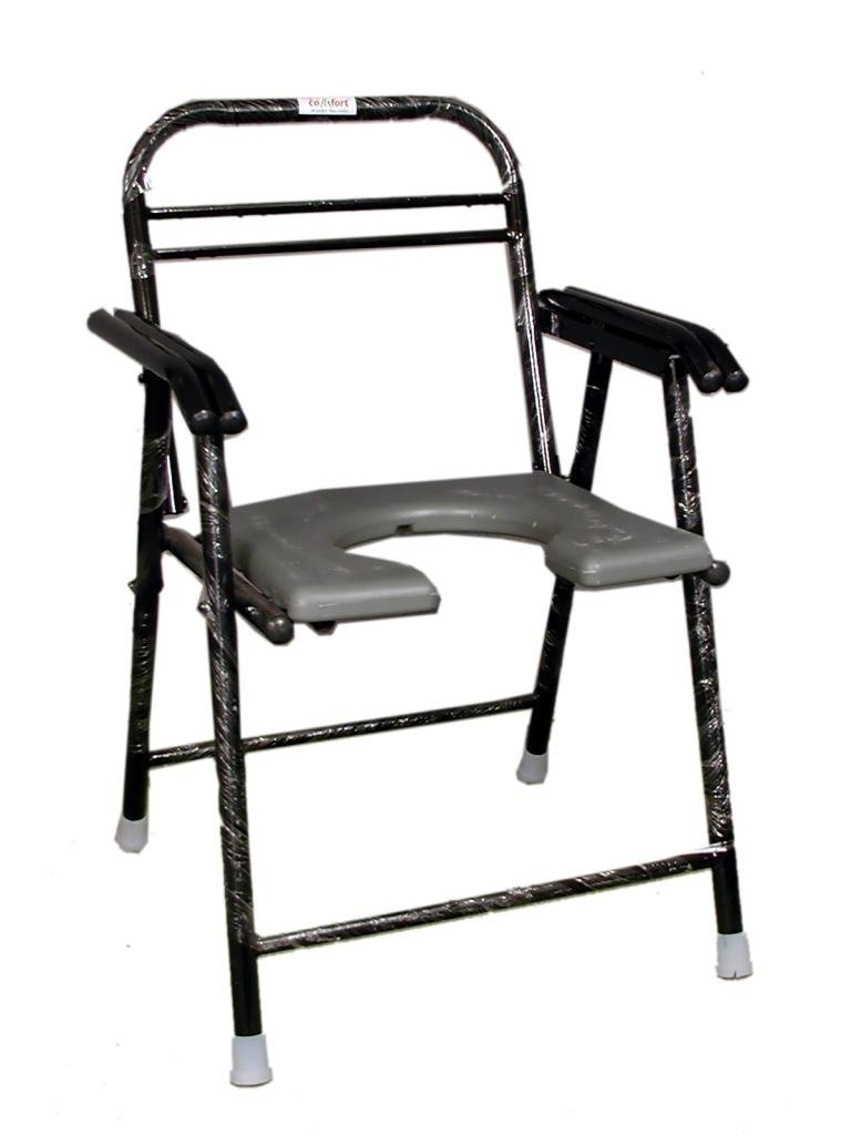 Folding commode chair - Folding Commode Chair With Pot Buy Online At Best Price In India From Healthklin Com